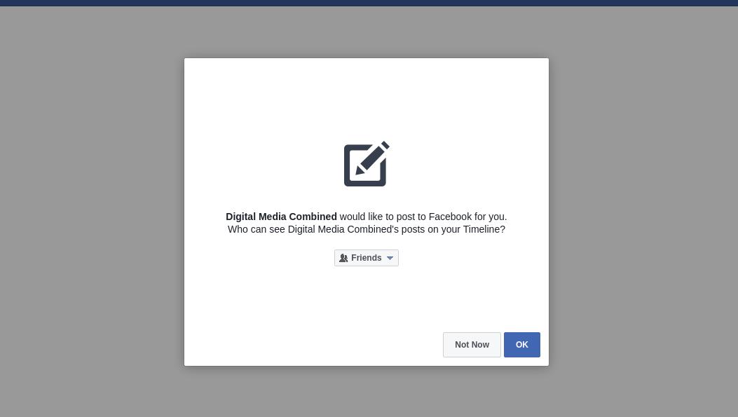 Facebook Permssion Request